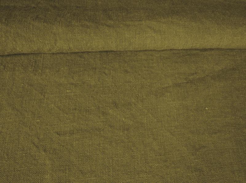 Ткань с эффектом мятости лен 100 аир болотный фото 1>                   <span class=