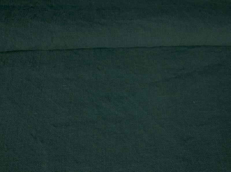 Ткань с эффектом мятости лен 100 бирюзовый изумруд фото 1>                   <span class=