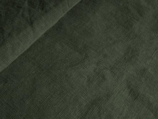 Ткань с эффектом мятости лен 100 болотная трава фото 1>                   <span class=