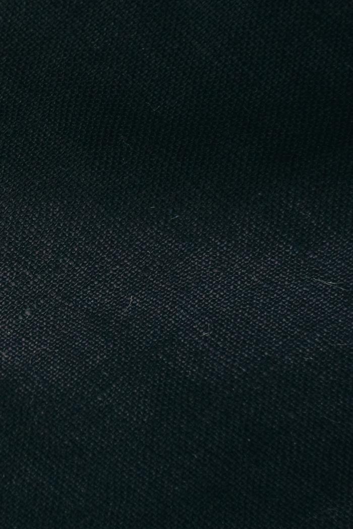 Ткань с эффектом мятости лен 100 черный лебедь фото 3>                   <span class=