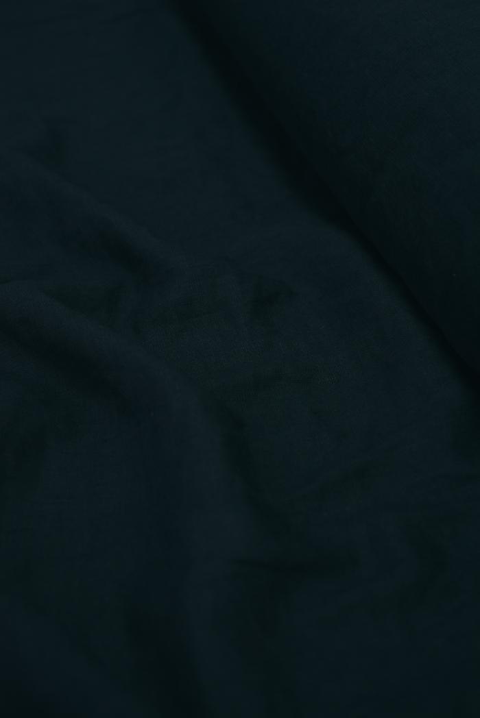 Ткань с эффектом мятости лен 100 черный лебедь фото 4>                   <span class=