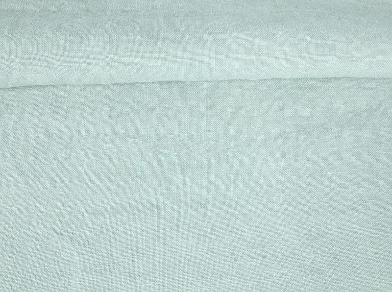 Ткань с эффектом мятости лен 100 горный хрусталь фото 1>                   <span class=