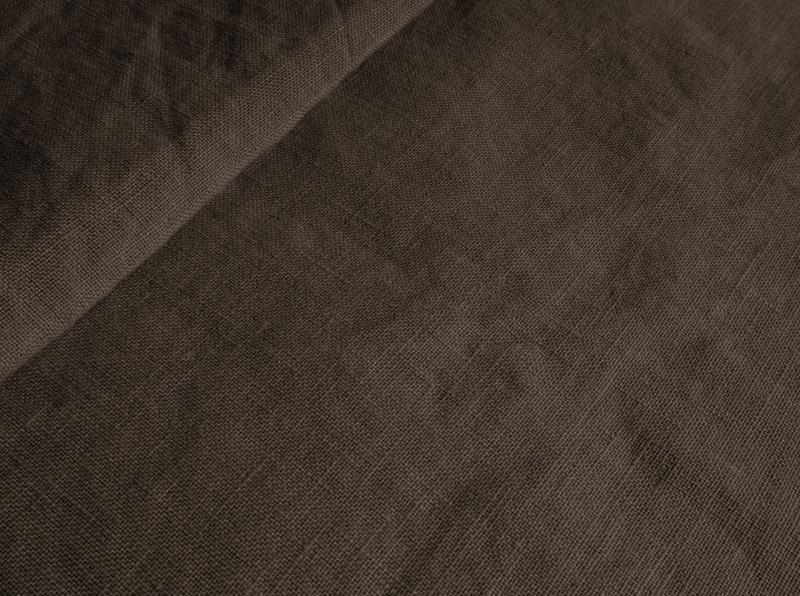 Ткань с эффектом мятости лен 100 лесной орех фото 1>                   <span class=