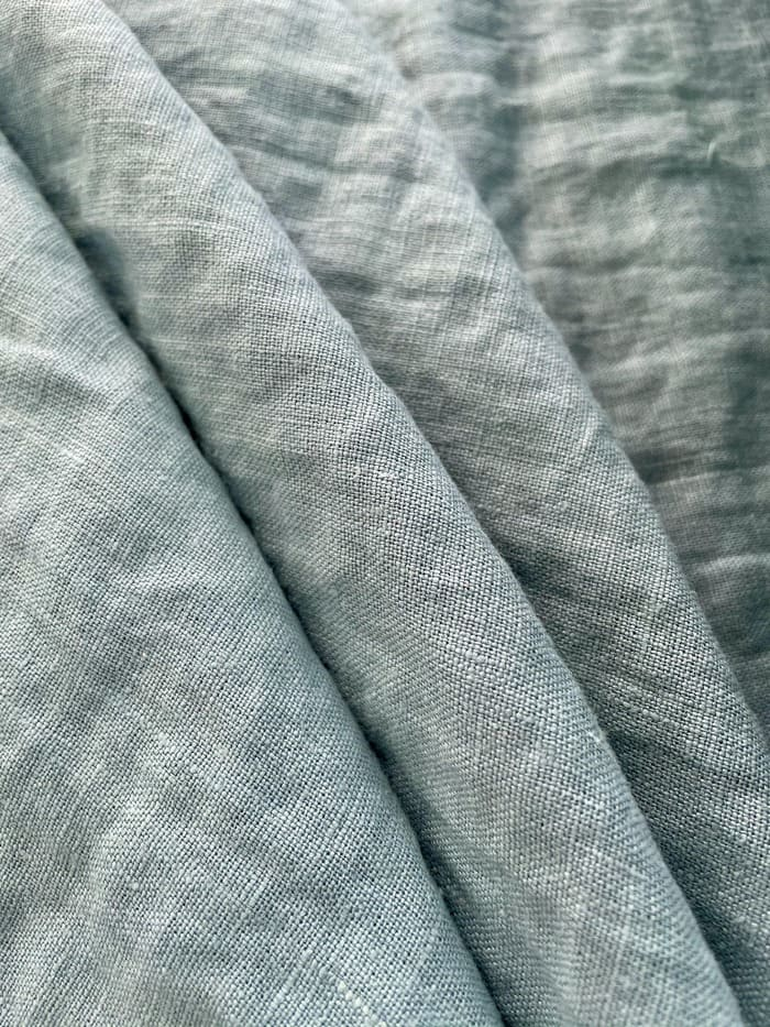 Ткань с эффектом мятости лен 100 летний ветер крэш фото 1>                   <span class=