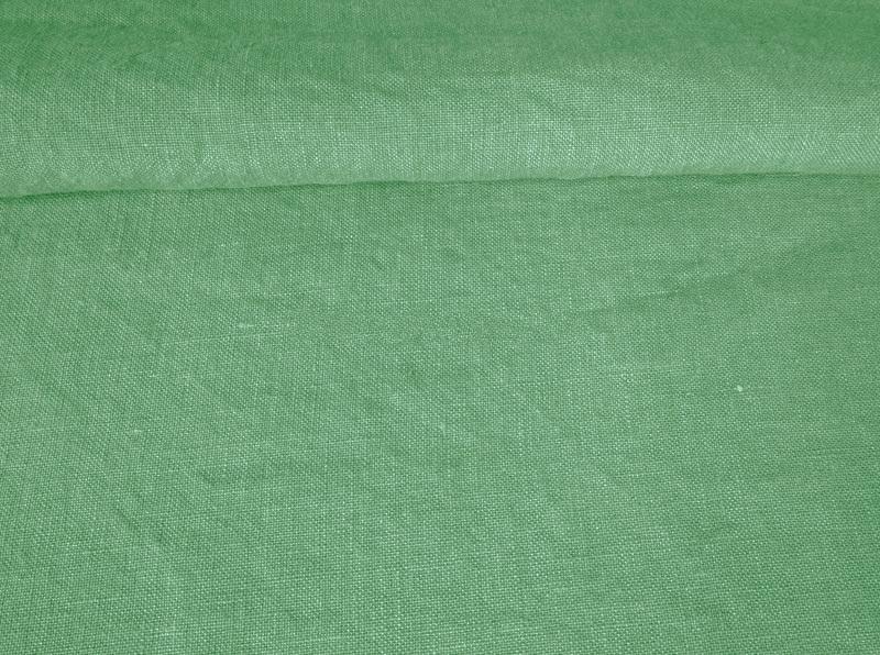 Ткань с эффектом мятости лен 100 мятный чай фото 1>                   <span class=
