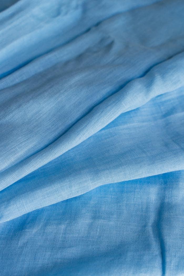 Ткань с эффектом мятости лен 100 небо фото 3>                   <span class=