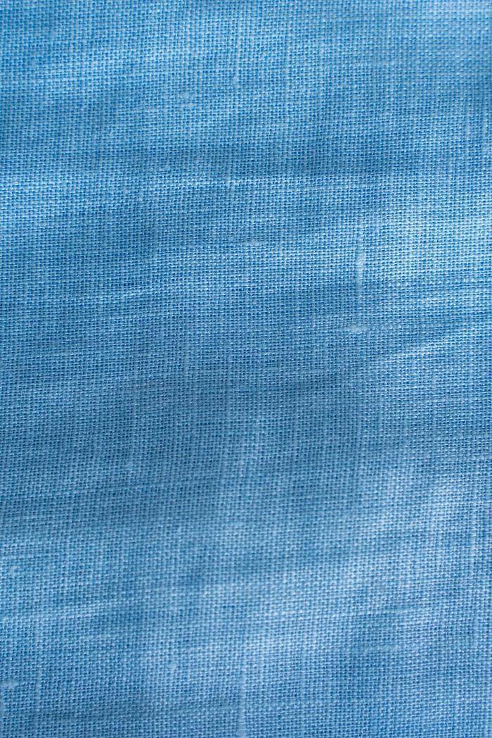 Ткань с эффектом мятости лен 100 небо фото 4>                   <span class=