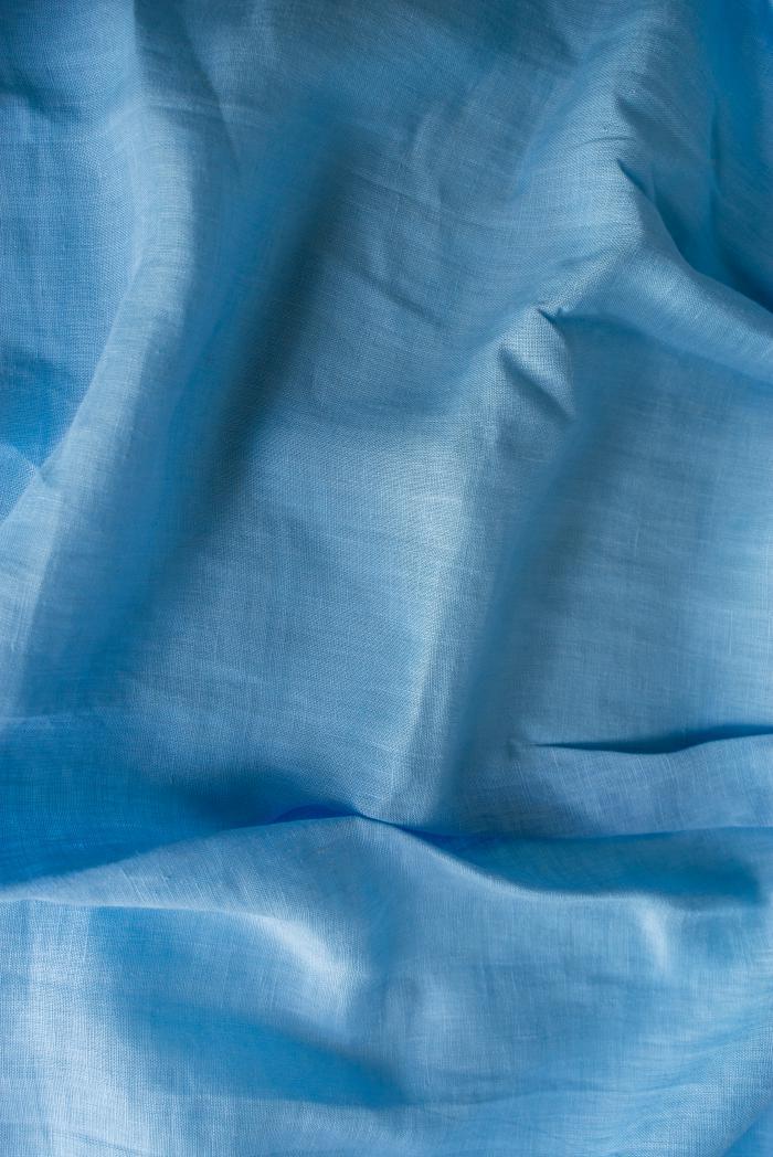 Ткань с эффектом мятости лен 100 небо фото 5>                   <span class=
