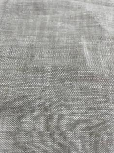 Ткань с эффектом мятости лен 100 пепел фото 1