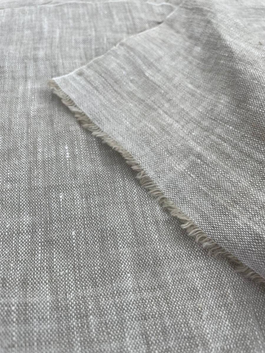 Ткань с эффектом мятости лен 100 пепел фото 2>                   <span class=