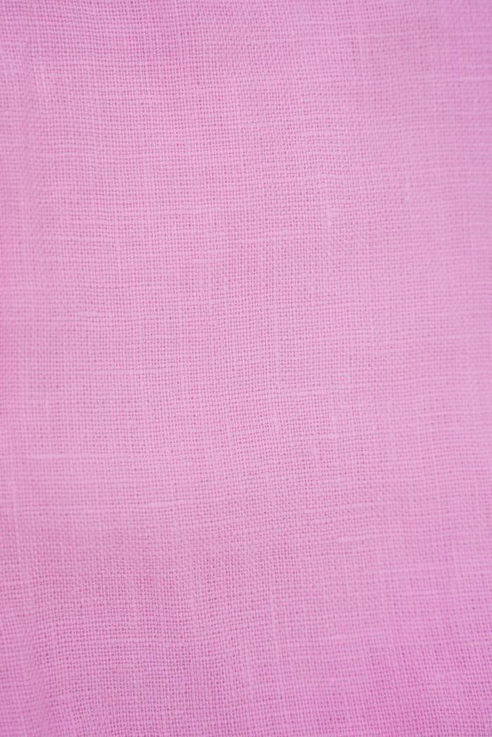 Ткань с эффектом мятости лен 100 розовый фламинго фото 3>                   <span class=