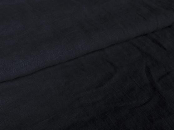 Ткань с эффектом мятости лен 100 темный лед фото 1>                   <span class=