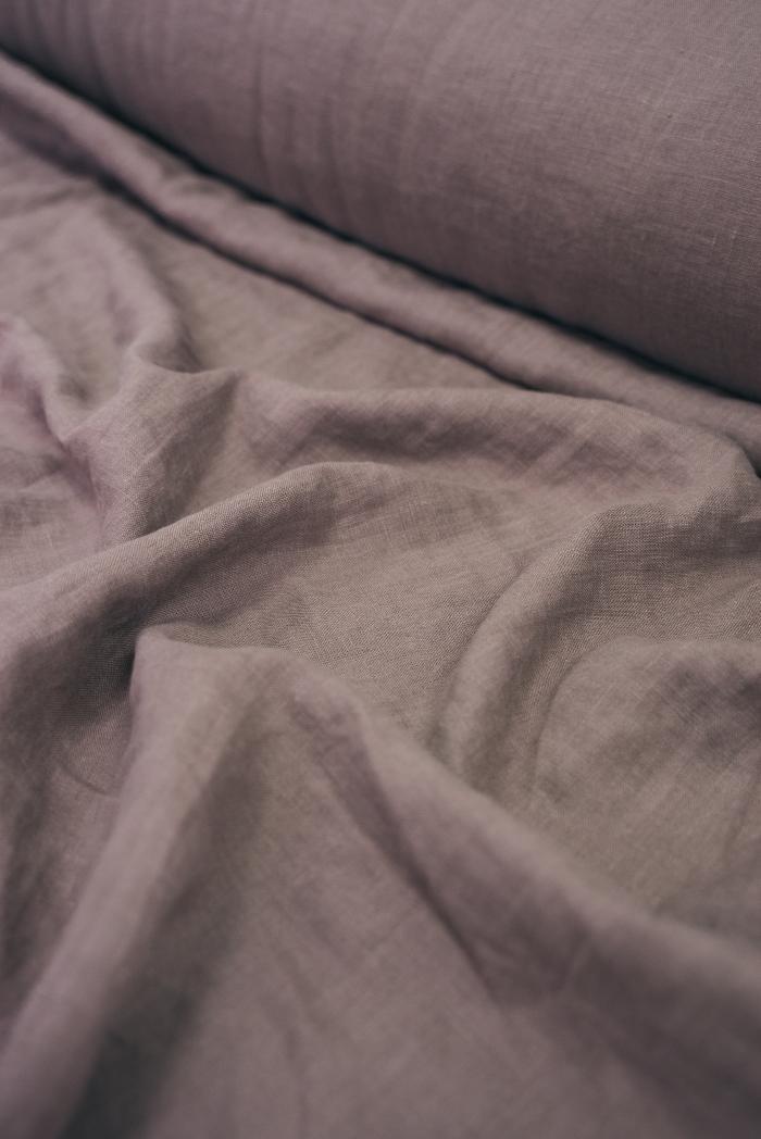 Ткань с эффектом мятости лен 100 вереск фото 2>                   <span class=