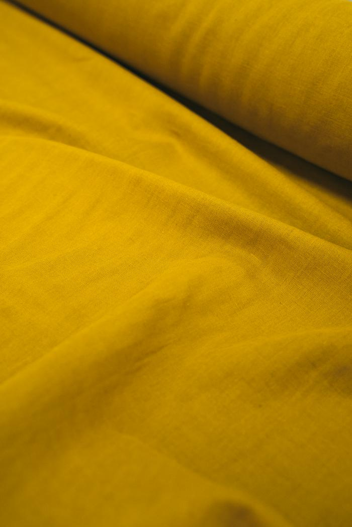 Ткань с эффектом мятости п лен горчица фото 4>                   <span class=