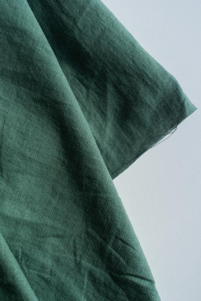 Ткань с эффектом мятости п лен хвоя фото 3>                   <span class=