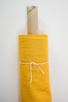 Ткань с эффектом мятости п лен острый карри фото 1