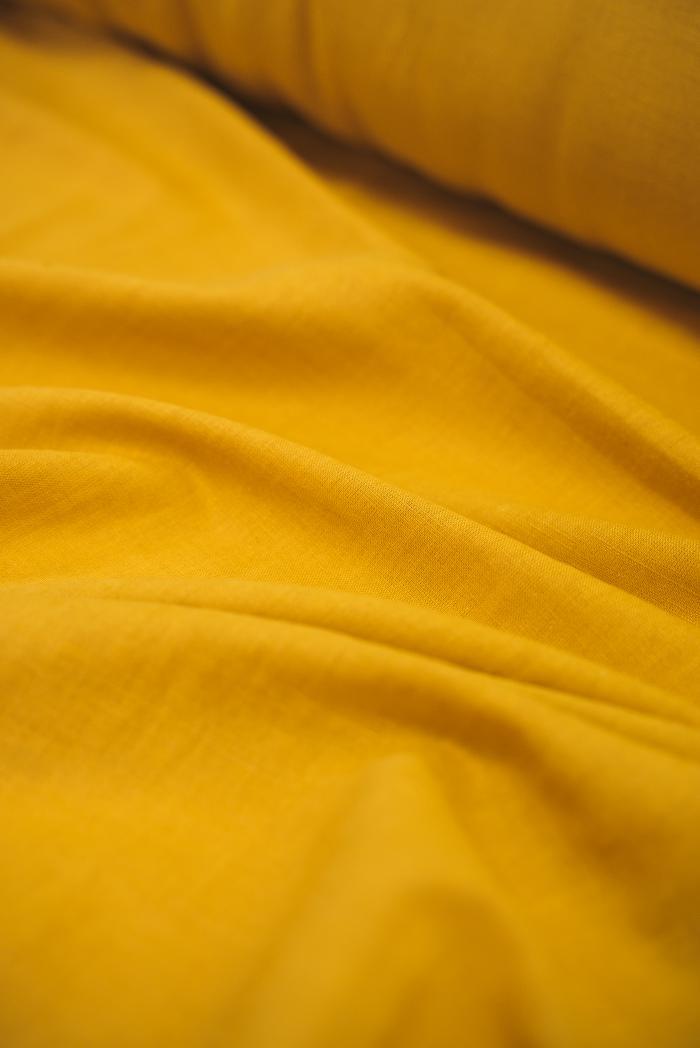 Ткань с эффектом мятости п лен острый карри фото 3>                   <span class=