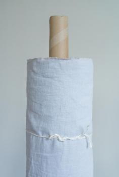 Ткань с эффектом мятости п лен серая дымка фото 1
