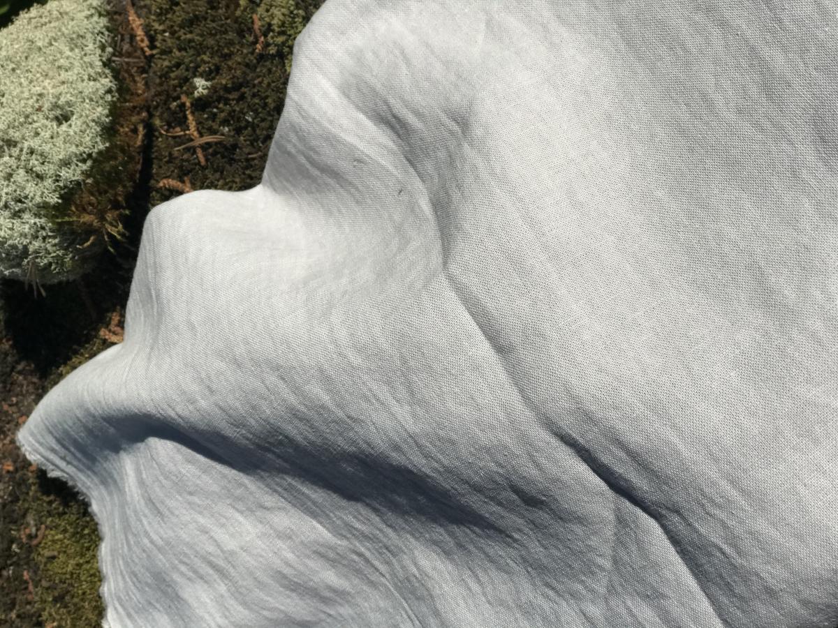 Ткань с эффектом мятости п лен серая дымка фото 2>                   <span class=