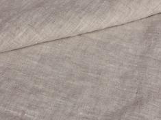 Ткань с эффектом мятости лен 100 серая белка фото 1