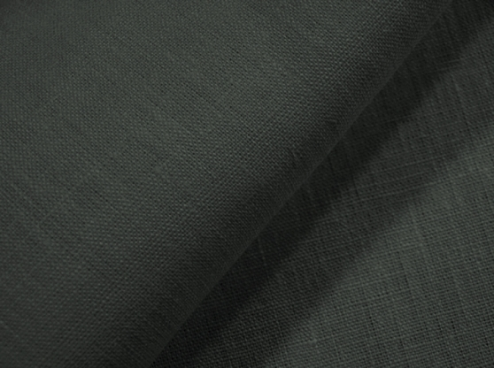 Ткань скатертная лен 100 графит фото 1