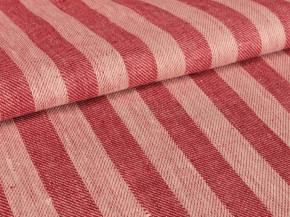 Ткань скатертная лен 100 полоска красная фото 2>                   <span class=