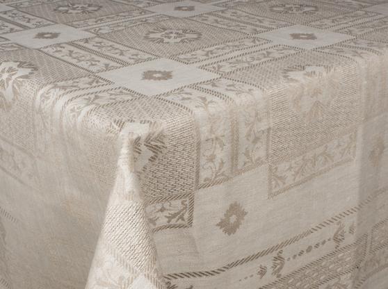 Ткань скатертная лен 100 рустик фото 1