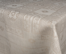 Ткань скатертная лен 100 рустик фото 3