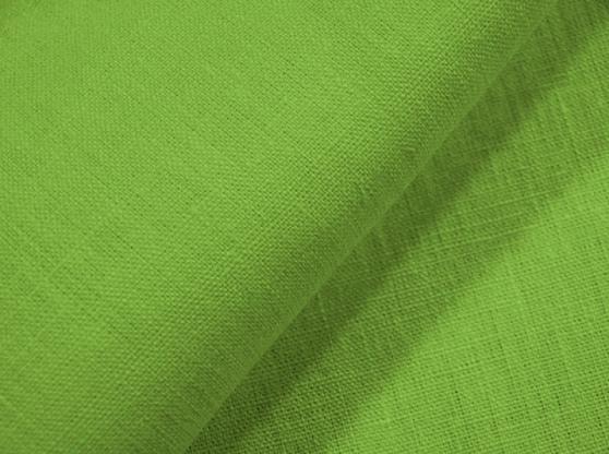 Ткань скатертная лен 100 зеленый луг фото 1