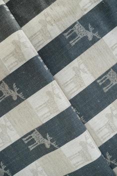 Ткань скатертная п лен лоси маленькие фото 1