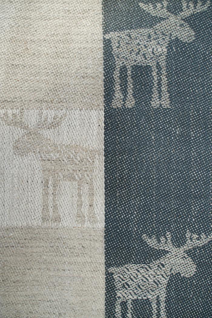 Ткань скатертная п лен лоси маленькие фото 3