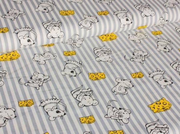 Ткань скатертная п лен мышки с сыром фото 1>                   <span class=
