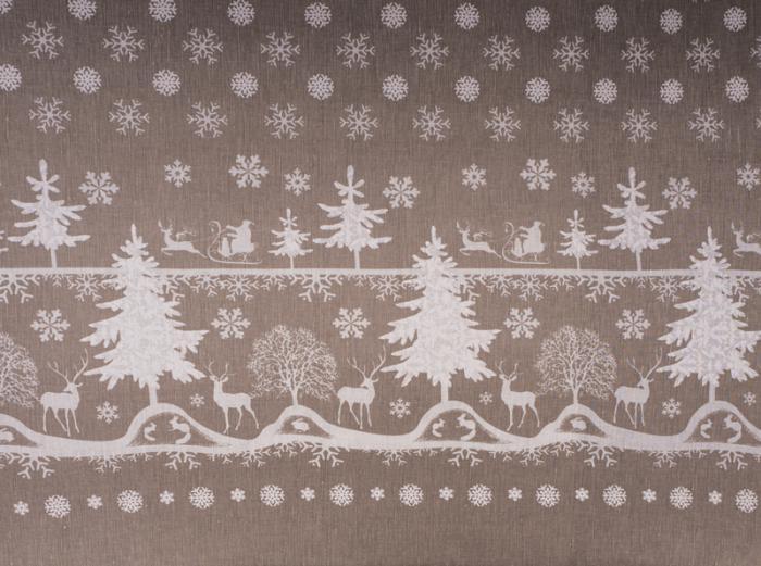 Ткань скатертная п лен сказочный лес фото 1>                   <span class=
