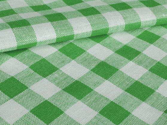 Ткань скатертная п лен зеленая клетка фото 1>                   <span class=