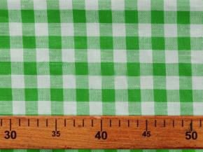 Ткань скатертная п лен зеленая клетка фото 2>                   <span class=