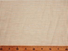 Ткань сорочечная п лен бежевая клетка фото 3>                   <span class=