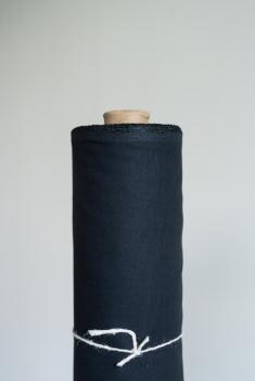 Ткань сорочечная п лен черная ночь фото 1