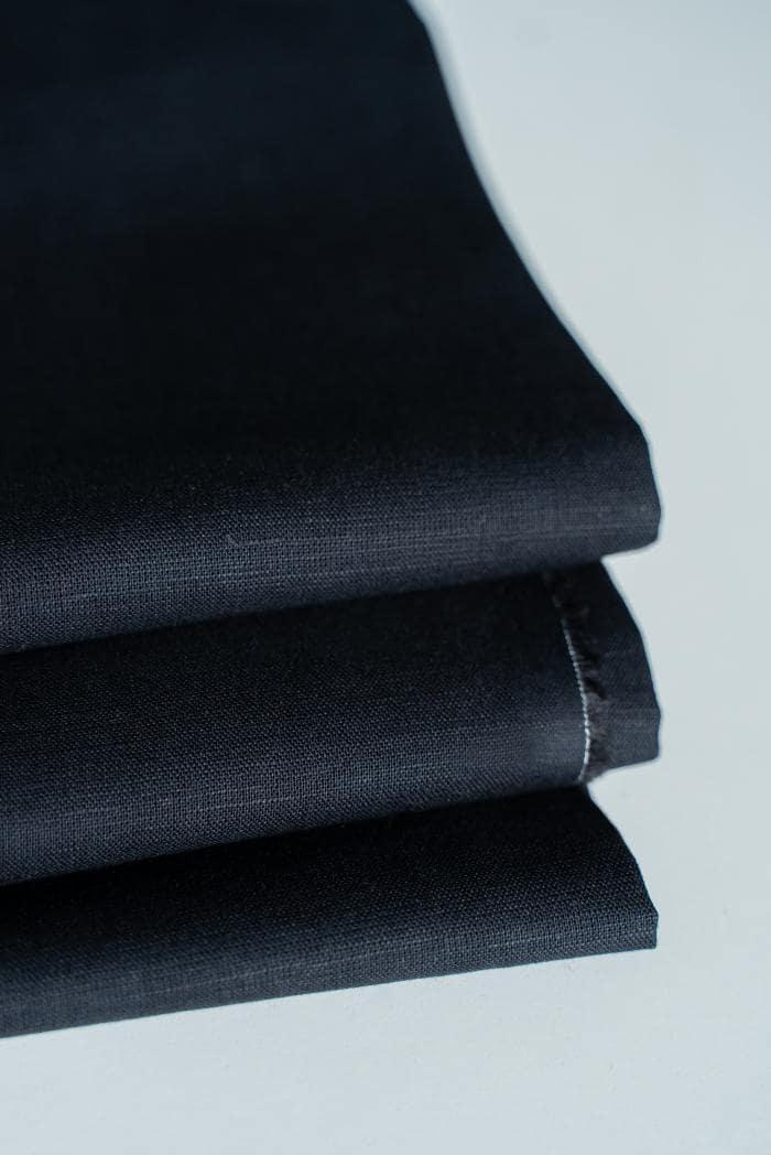 Ткань сорочечная п лен черная ночь фото 2>                   <span class=