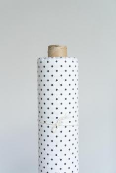 Ткань сорочечная п лен черный горошек фото 1