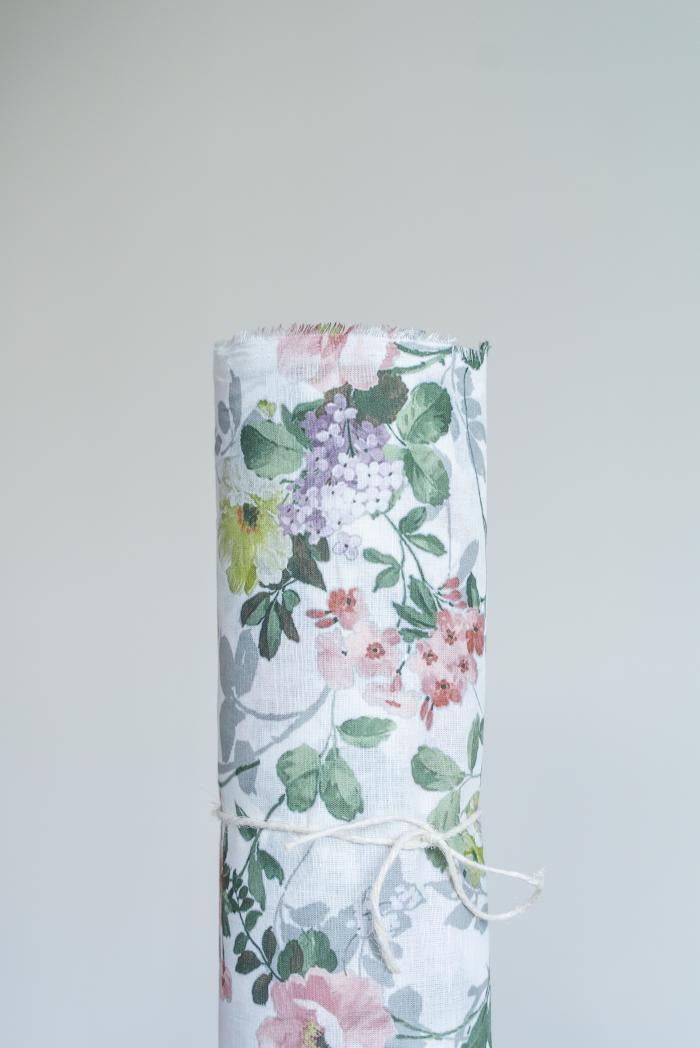 Ткань сорочечная п лен цветы фото 1>                   <span class=