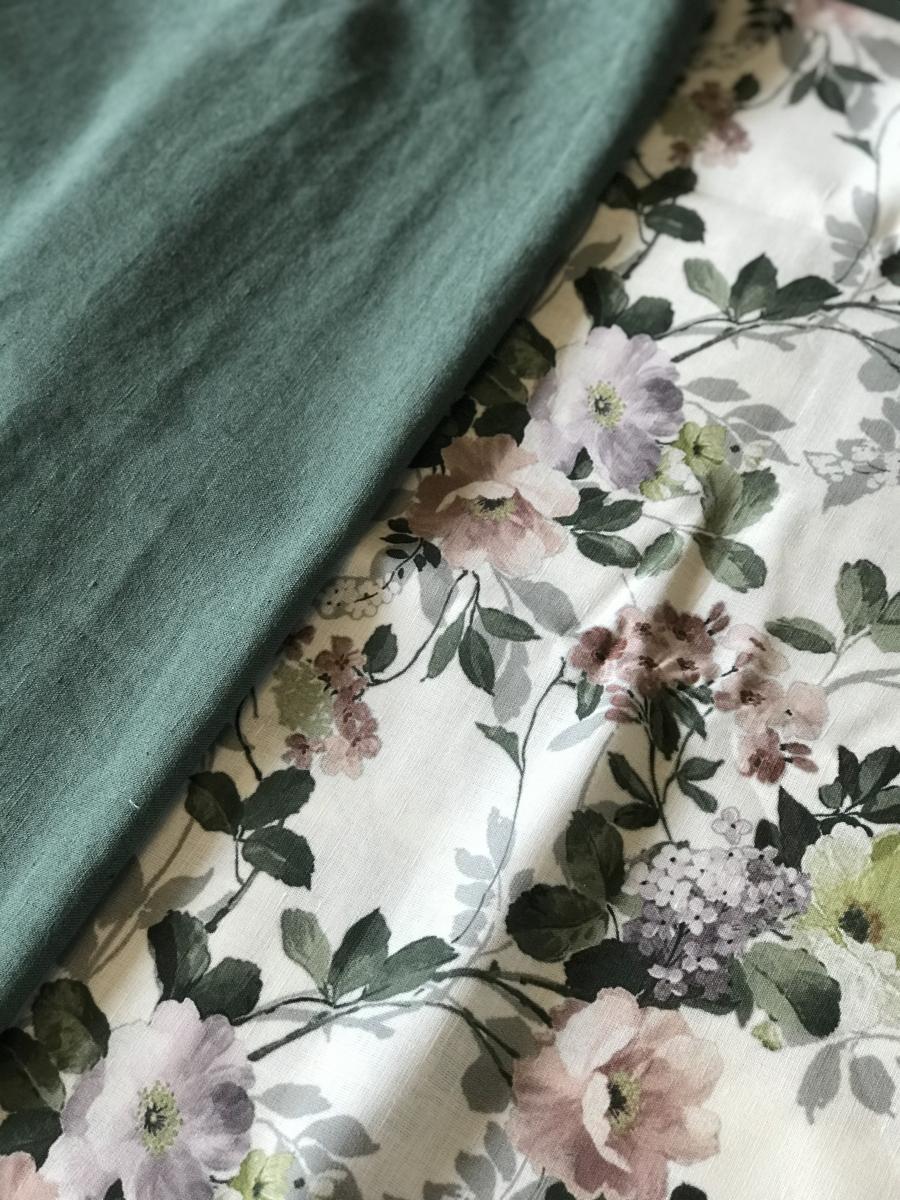 Ткань сорочечная п лен цветы фото 3>                   <span class=