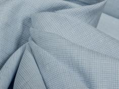 Ткань сорочечная п лен голубая мечта фото 1