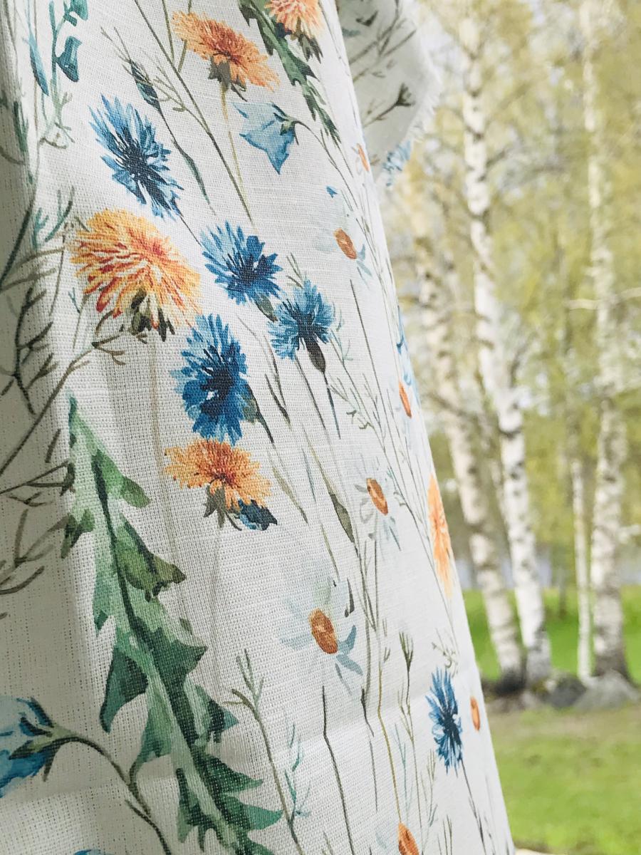 Ткань сорочечная п лен полевые цветы фото 2>                   <span class=