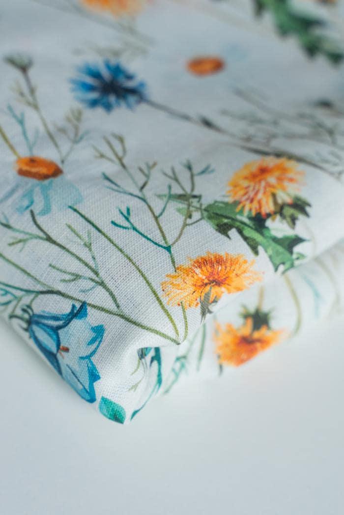 Ткань сорочечная п лен полевые цветы фото 3>                   <span class=