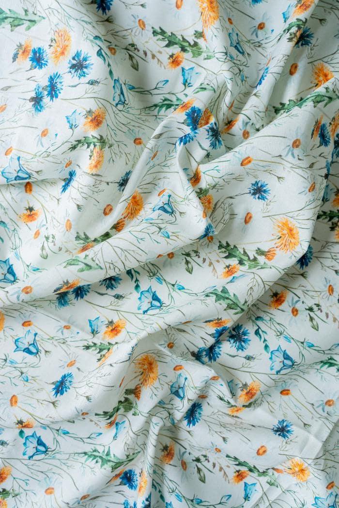 Ткань сорочечная п лен полевые цветы фото 5>                   <span class=