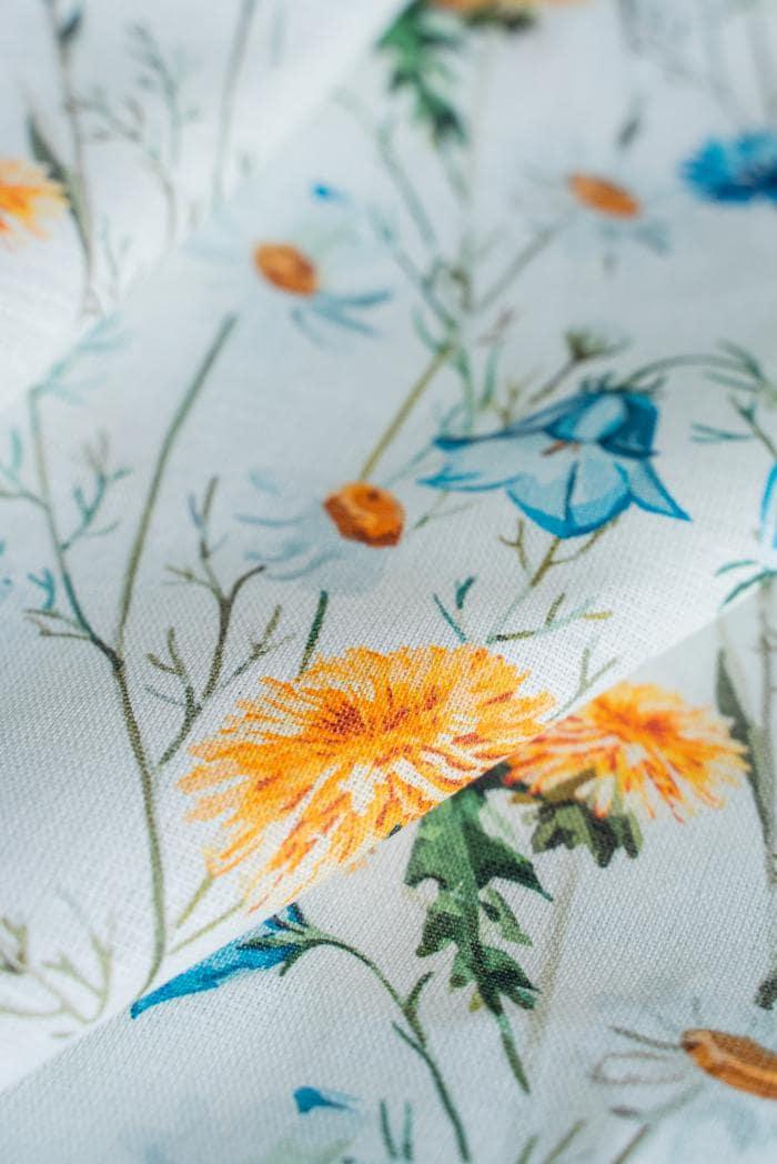 Ткань сорочечная п лен полевые цветы фото 6>                   <span class=