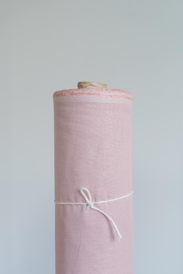 Ткань сорочечная п лен пыльная роза фото 1>                   <span class=