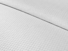 Ткань вафельная п лен белый налив фото 1
