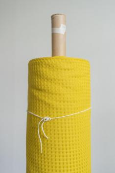Ткань вафельная п лен мимоза фото 1