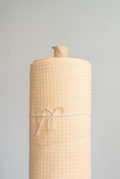 Ткань вафельная п лен персик фото 1